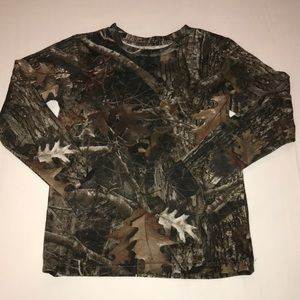 Red Head Youth Long Sleeve Camo T-Shirt, Size L